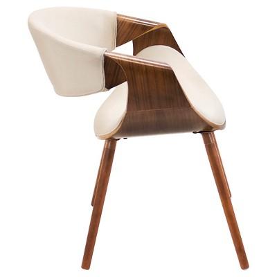 Exceptional Curvo Mid Century Modern Chair In Walnut Wood   LumiSource : Target