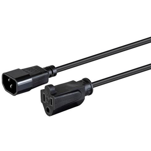 Monoprice Desktop Computer Power Cord - 2 Feet - Black | IEC 60320 C14 to NEMA 5-15R, 18AWG, 10A, SVT, 125V - image 1 of 6