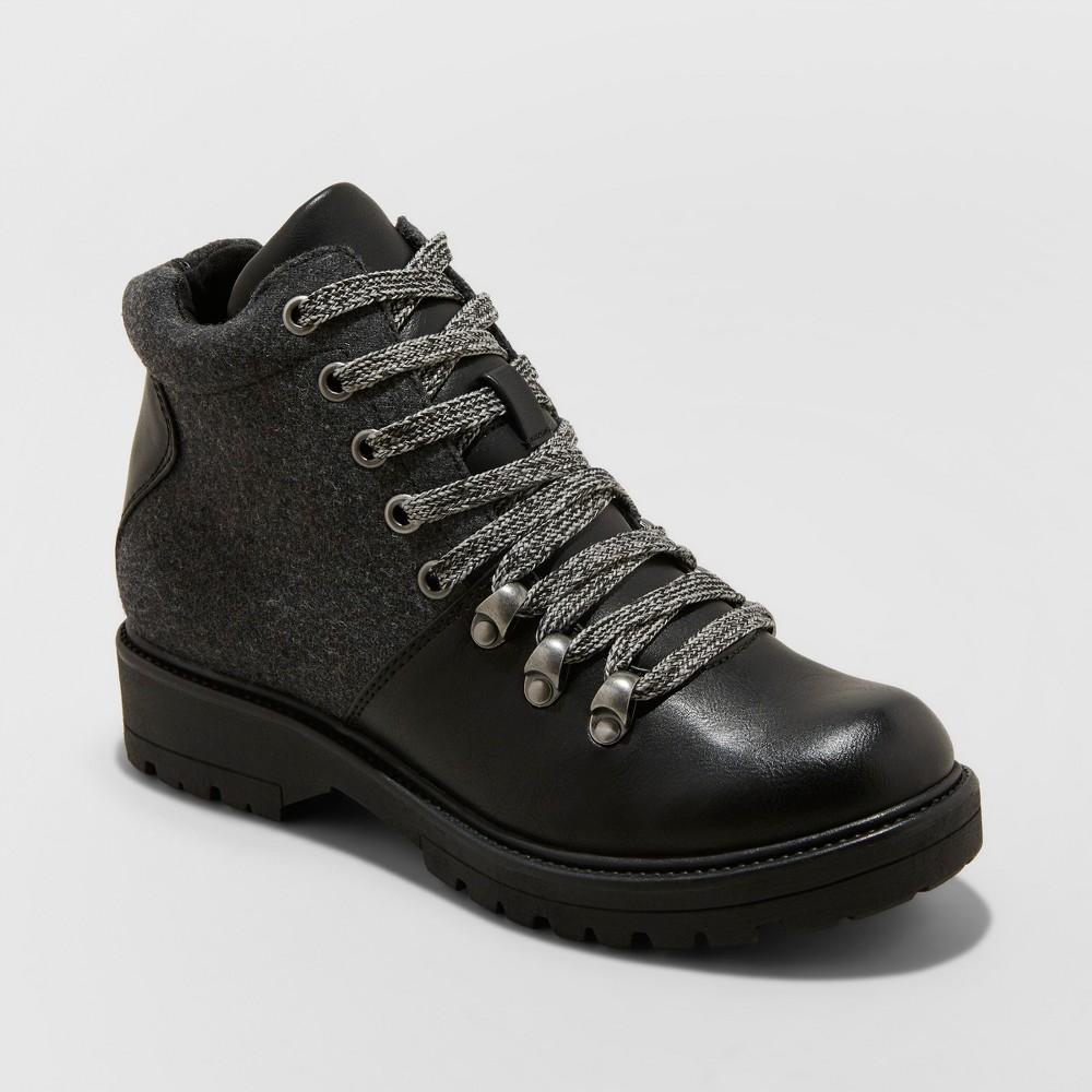Women's Karri Lace Up Hiker Boots - Universal Thread Black 7.5
