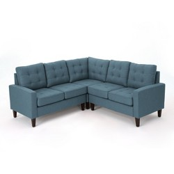 3pc Nasir Sectional Sofa Blue - Christopher Knight Home