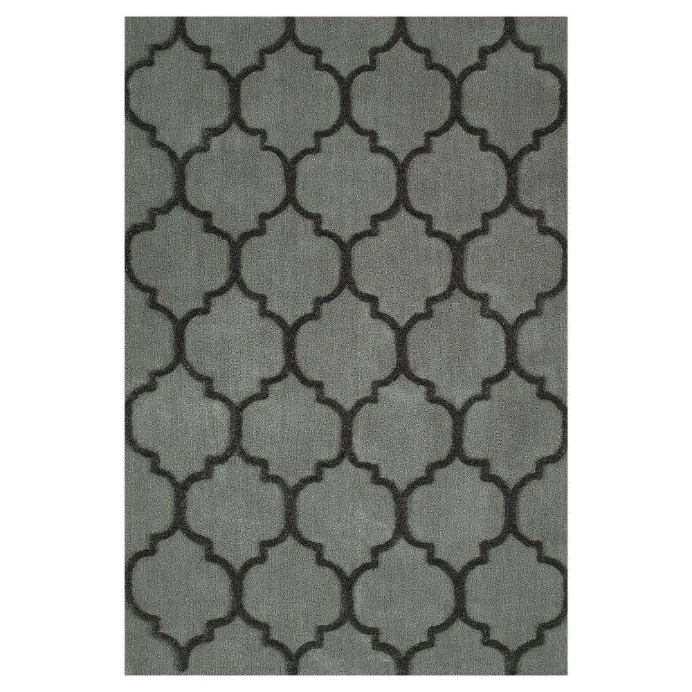 8'X10' Gray Geometric Tufted Area Rug - Addison Rugs