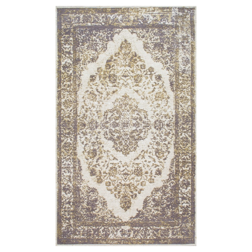 Sterling Gray Solid Loomed Area Rug - (6'x9')