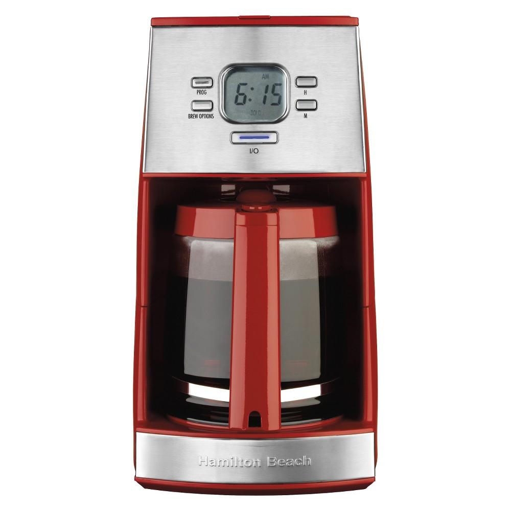 Hamilton Beach Ensemble 12-Cup Coffee Maker- 43253R, Red