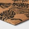 """18""""X30"""" Pine Coir Inline Doormat Tan/Black - Threshold™ - image 2 of 3"""