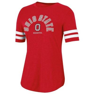 NCAA Ohio State Buckeyes Women's Short Sleeve Crew Neck T-Shirt