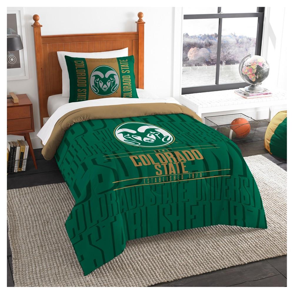 NCAA Northwest Modern Take Twin Comforter Set Colorado State Rams - 64 x 86