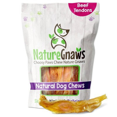 "Nature Gnaws Beef Tendon 4-7"" Jerky Dog Treats - 12ct"