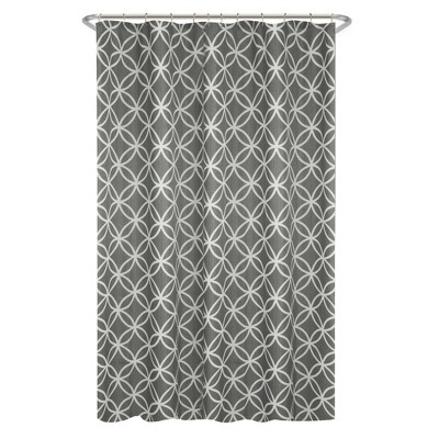 Emma Shower Curtain Gray - Zenna Home