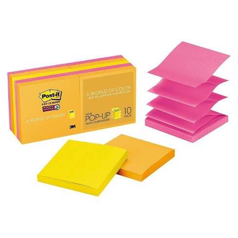 Post It Pop Up Notes Super Sticky 3 X Sheets Pads 90 Sheet Per Pack Target