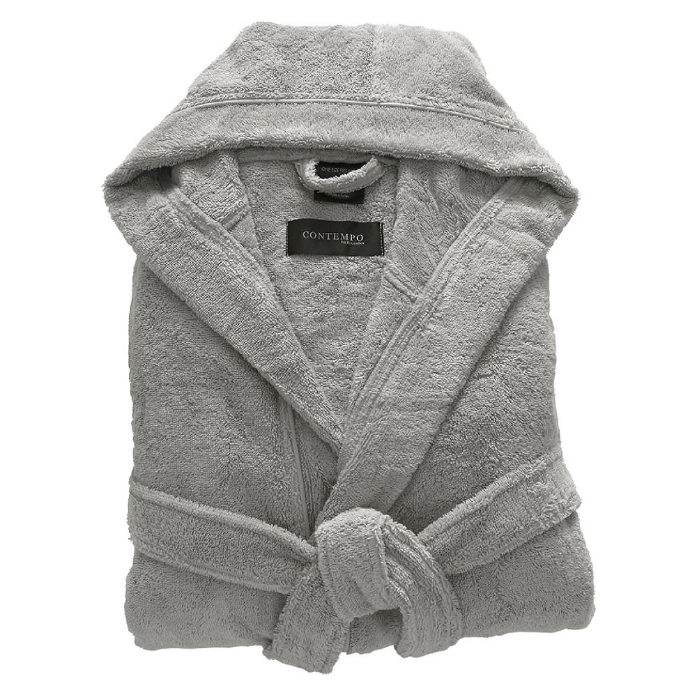 Kassatex Contempo Turkish Bath Robe - Steel (Silver), Adult Unisex