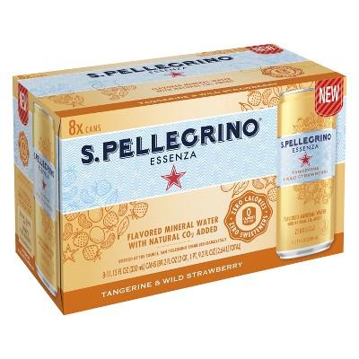 San Pellegrino Essenza Tangerine Strawberry Water - 8pk/11.15 fl oz Cans