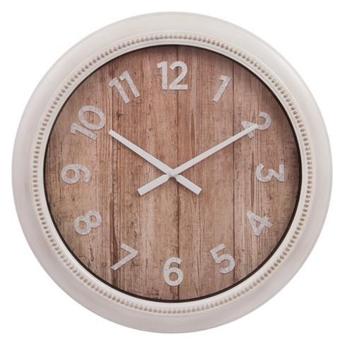 22 Rustic Wall In Distressed White Clock Patton Decor
