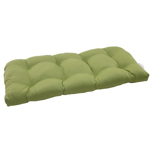 Outdoor Wicker Loveseat Cushion - Forsyth Solid - Pillow Perfect - image 1 of 1