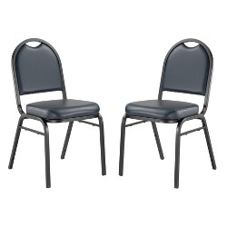 2pk Premium Vinyl Upholstered Stack Chair - Hampton Collection
