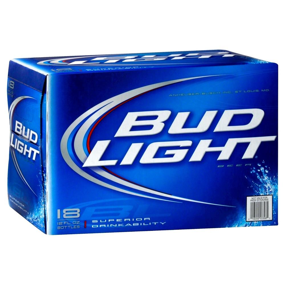 Upc 018200533082 Bud Light Beer Bottles 12 Oz 18 Pk Upcitemdb Com