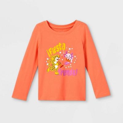 Toddler Girls' 'Fiesta Friends' Long Sleeve Graphic T-Shirt - Cat & Jack™ Orange