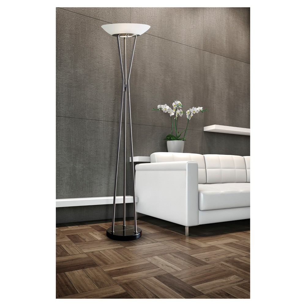 Image of Adesso Gemma Floor Lamp - Silver