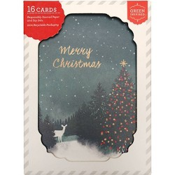 16ct Bright Forest Holiday Boxed Greeting Cards