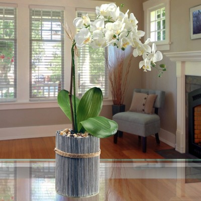 """Garden Accents Artificial Potted Orchid White 20"""" - National Tree Company"""