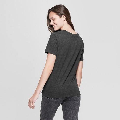 6b928f505c292 Women s Nickelodeon Short Sleeve Graphic T-Shirt (Juniors ) Charcoal    Target