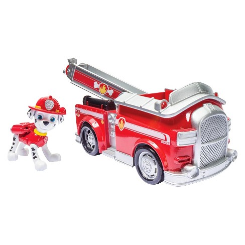 paw patrol marshall s fire fightin truck vehicle and figure target