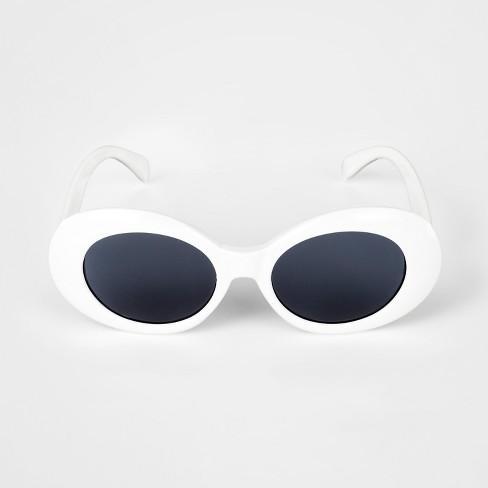 bdaa51f9a9a7a Girls  Oval Sunglasses - Art Class™ White One Size   Target