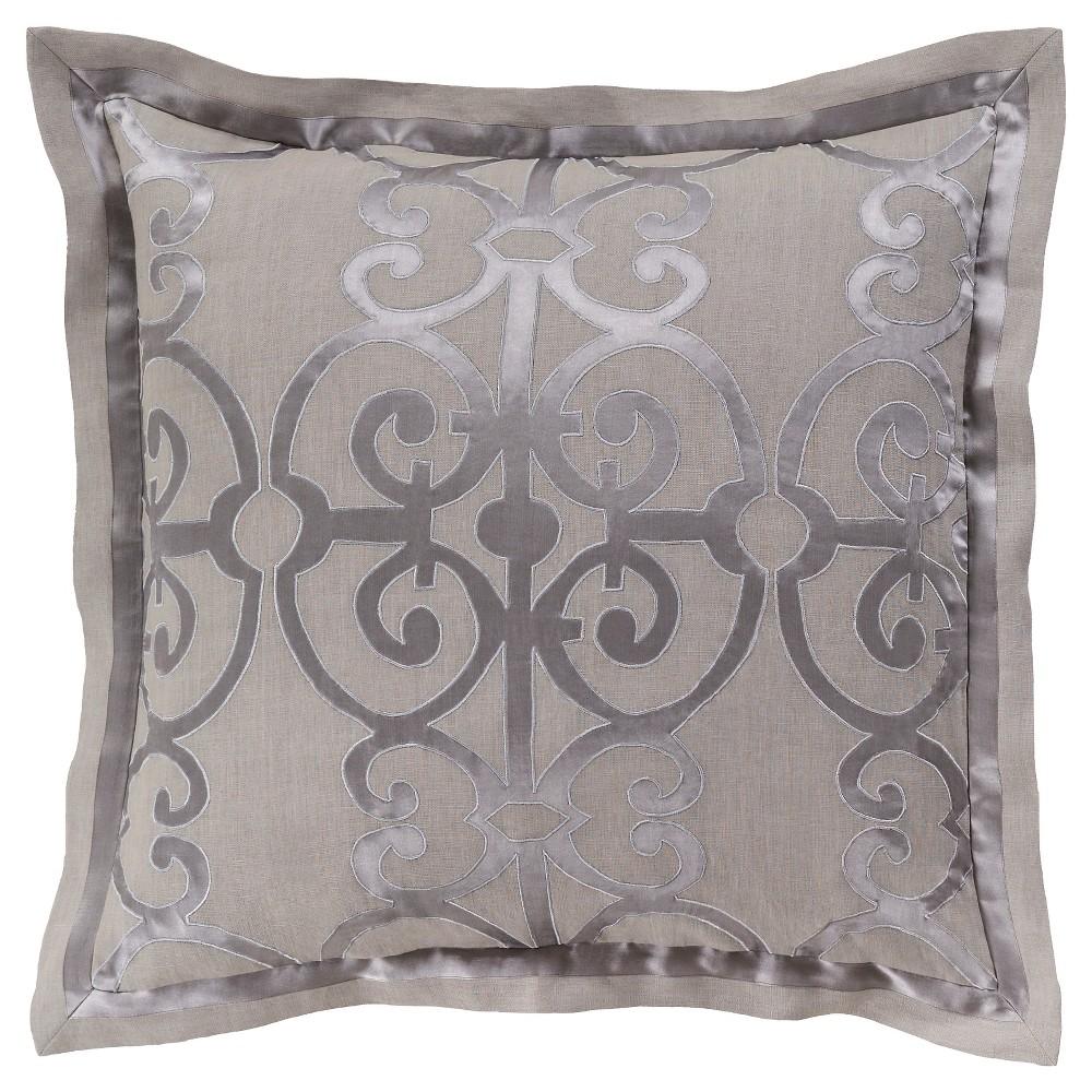 Oshawa Luxury Bedding Sham (Euro) Slate (Grey) - Surya