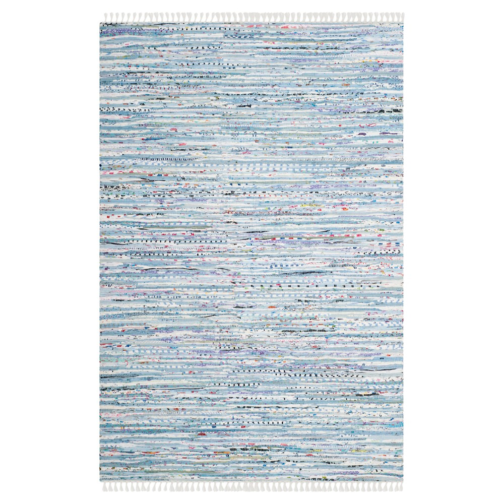 4'x6' Burst Area Rug Lite Blue - Safavieh