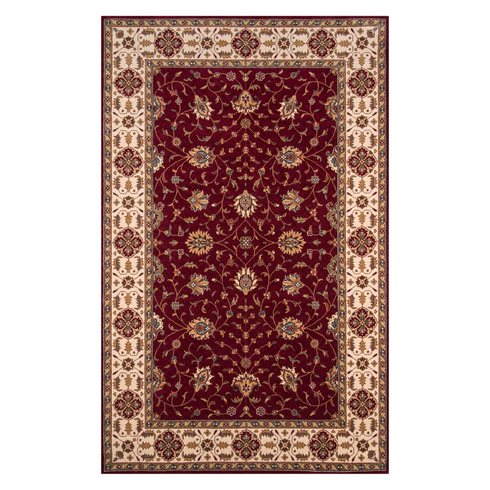 3'X5' Floral Loomed Accent Rug Burgundy (Red) - Momeni