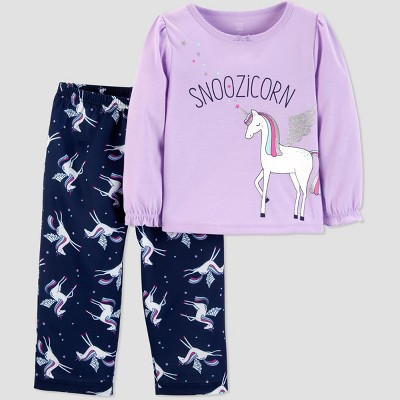 Baby Girls' 2pc Snoozicorn Fleece Pajama Set - Just One You® made by carter's Violet 12M