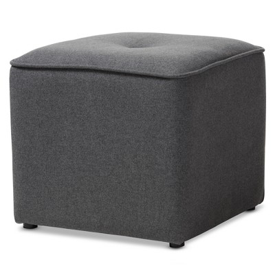 Corinne Modern and Contemporary Fabric Upholstered Ottoman - Baxton Studio