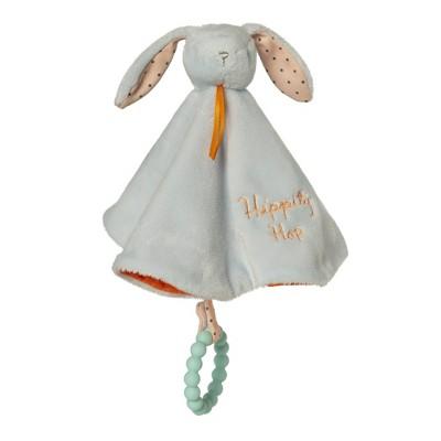 Manhattan Toy Hippity Hop Blue Bunny Soft Baby Lovie with Textured Teether