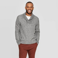 Men's Casual Fit Mock Collar Long Sleeve Shawl Pullover Sweater - Goodfellow & Co™