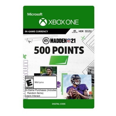 Madden NFL 21: 500 Madden Points - Xbox One (Digital)