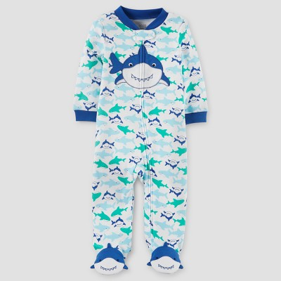 Baby Boys' Shark Cotton Sleep N' Play - Just One You™ Made by Carter's® Blue 9M