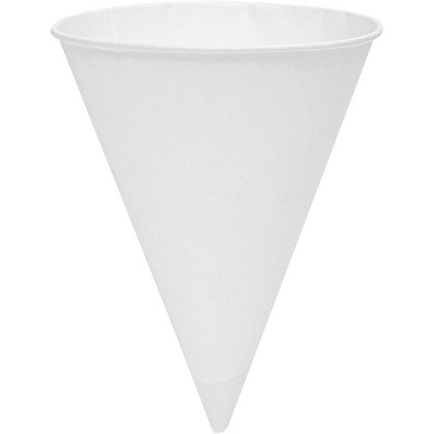 Juvale 200-Pack Disposable Paper Snow Cone Cups for Parties and Shaved Ice (6 Ounce each) White