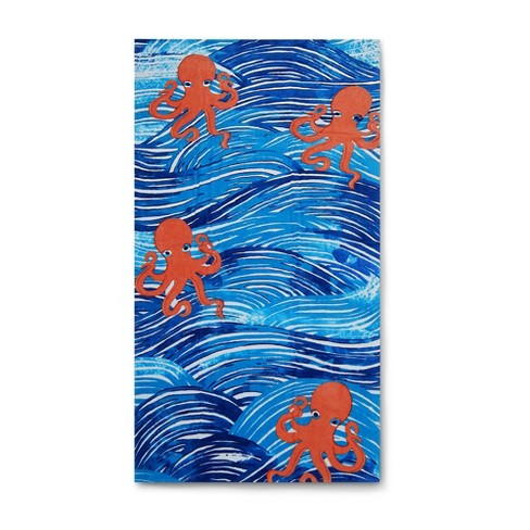 Octopus Beach Towel Athens Blue - image 1 of 1