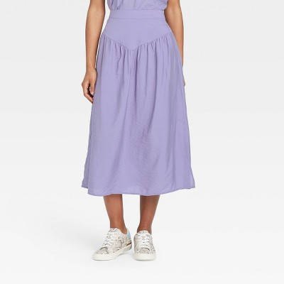 Women's Yoke-Front Midi Skirt - A New Day™