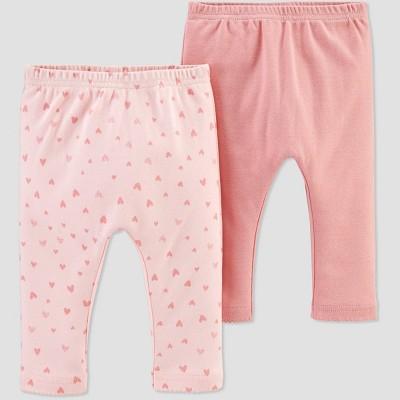 Baby Girls' 2pk Leggings - little planet organic by carter's Pink 3M