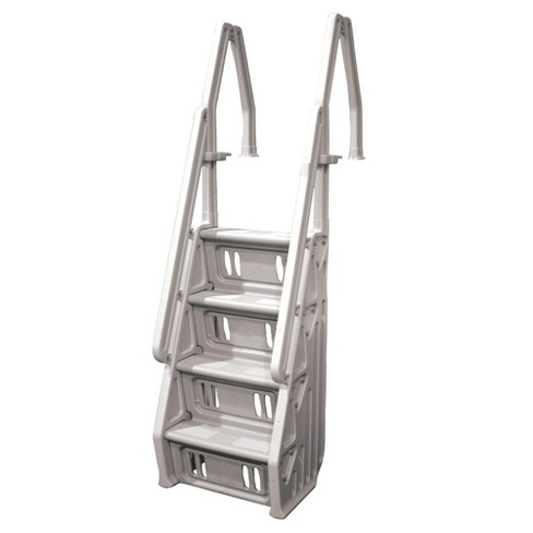 Vinyl Works Adjustable 24 Inch In-Pool Step Ladder for Above Ground Pools, Taupe - image 1 of 4