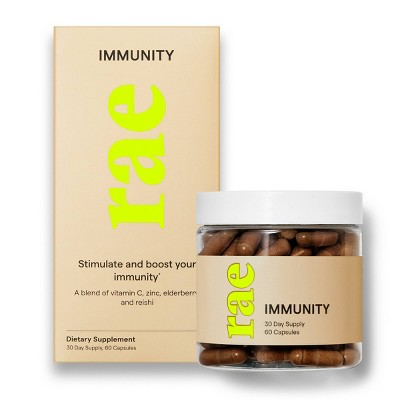 Rae Immunity Dietary Supplement Capsules for Immune System Support - 60ct