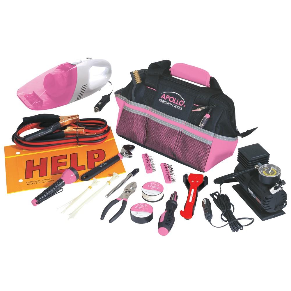 Apollo Tools 54-Pc. Roadside Tool Set - Pink
