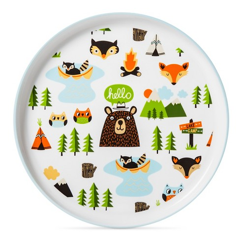"Round Plate 9.6""x9.6"" Animal Decal - Pillowfort™ - image 1 of 1"