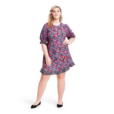 Mixed Floral Puff Sleeve Dress - RIXO for Target