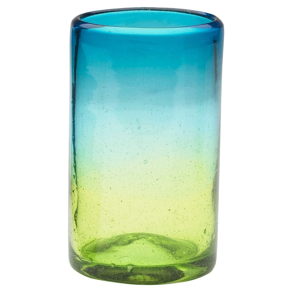 Image of Global Amici 16oz Sonora Highball Drinkware Set - Set of 4, Green Blue