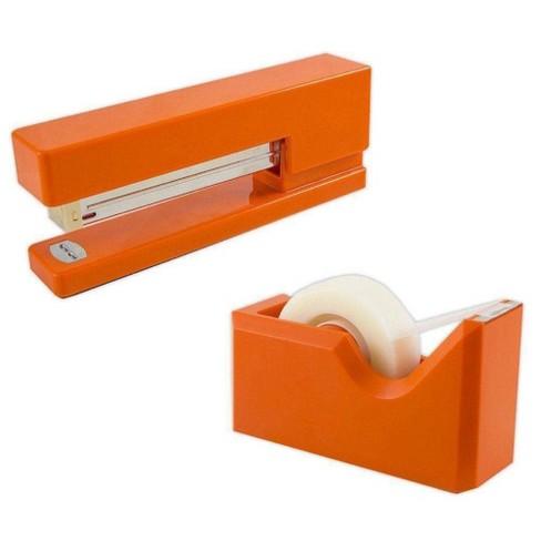 JAM Paper Stapler & Tape Dispenser Desk Set Orange - image 1 of 4