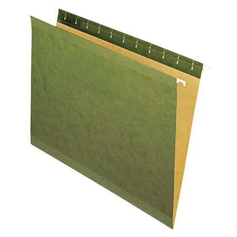 Pendaflex Reinforced Hanging File Folders with No Tabs, Letter - Green (25 Per Box) - image 1 of 2