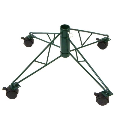 Northlight Green Metal Rolling Christmas Tree Stand for 6.5' - 7.5' Artificial Trees
