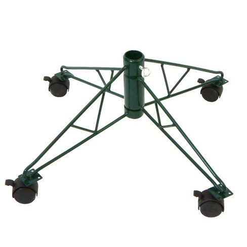 Artificial Christmas Tree Stand.Northlight 21 Green Rolling Metal Tree Stand For 6 5 7 5 Artificial Christmas Trees