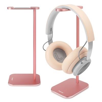 Insten Headphone Stand for Desk Home Office Gaming, Full Aluminum Headset Holder Hanger Perfect for All Size Headphones, Rose Gold